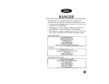 1992 ford ranger owners manual pdf