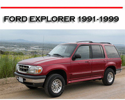 1999 ford explorer sport owners manual