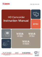 canon vixia hfm41 user manual