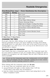 2002 ford windstar owners manual fuses