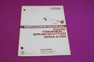 echo srm 210 user manual