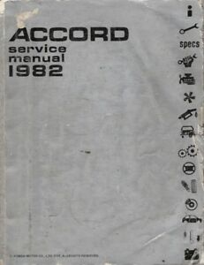 honda accord 1982 service manual