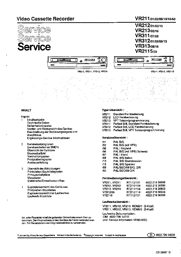 philips clearvue 550 service manual