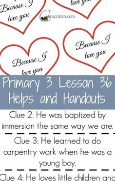 lds.org primary lesson manual 2
