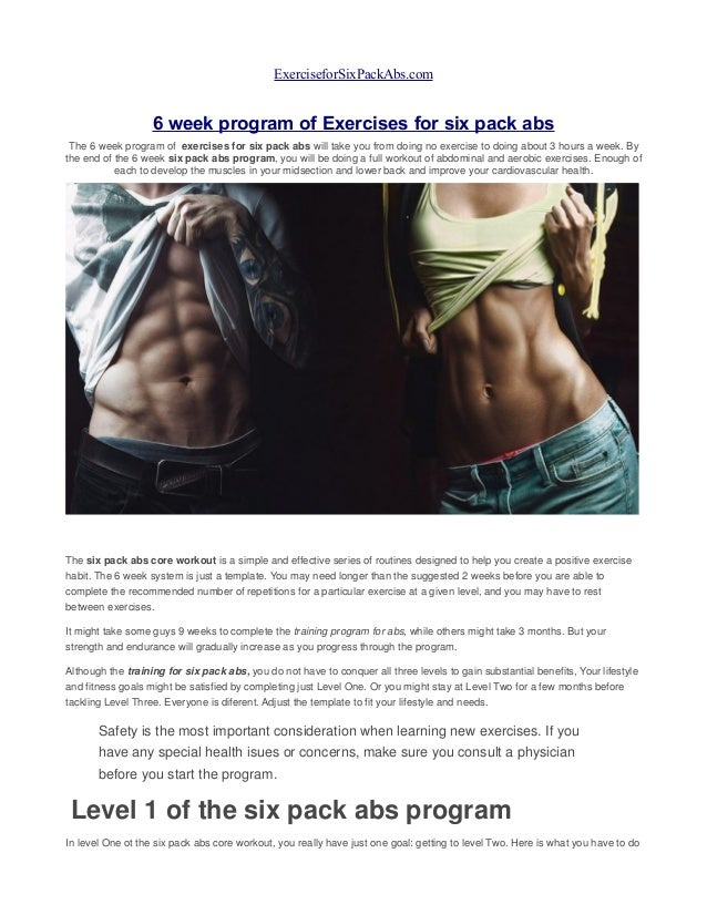 six pack care user manual pdf
